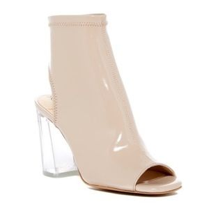 NEW Sole Society Lucite Penelope Peep Toe Bootie